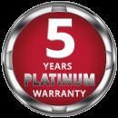 5 years Platinum Warranty